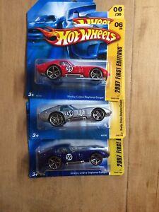 Hot Wheels Shelby Cobra Daytona 3 Pack.