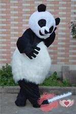 Long Fur Chinese Panda Mascot Costume Cosplay Birthday Party Parade Dress Outfit