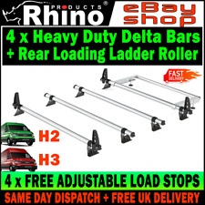 (L3-STANDARD H2-H3) MAN TGE Roof Bars x4 AND Roller (NO T-TRACK) Rhino 2017-2019