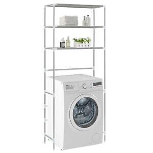 3 Tier Over Laundry Machine Storage Rack Bathroom Toilet Laundry Shelf Organizer