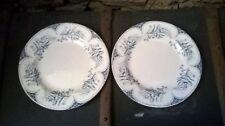 Lunéville Keller et Guérin. 2 assiettes anciennes, modèle Lille.