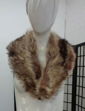 "MINT NATURAL RACCOON RACOON FUR COLLAR WRAP SCAF WOMEN WOMAN SIZE 5"" X 38"""