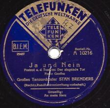 Stan Brenders Tanzorchester : AN MEIN HERZ + JA UND NEIN