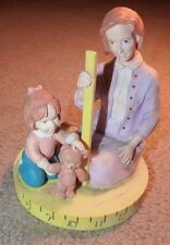 22 Yr Old 1994 San Francisco Music Box Co Mother Daughter Measure Teddy Bear !!