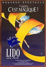 Affiche ancienne LIDO DE PARIS C'est Magique Cabaret Music-Hall René GRUAU  *