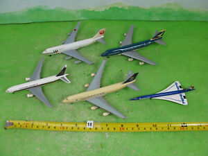 vintage herpa diecast aircraft 1/500 airliners x5 inc 747 cathay pacific n18