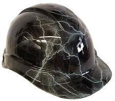 Hard Hat Light Grey Lightning 6 Point Harness w/ Free BRB Customs T-Shirt