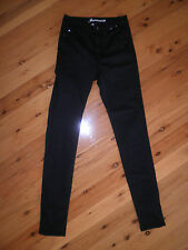 "Womens BLACK STRETCH JEANSWEST  JEANS SIZE 6 ""HIGHRISE SKINNY TUBE"""