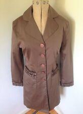 Ladies Brown Nine West Evening Coat Jacket Size S  UK12