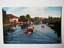 River Waveney at Beccles Suffolk 1970s Old Postcard 1974 J Salmon