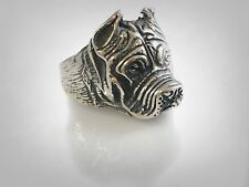 925 Ring by Ezi Zino Vintage Dogo Argentino Dog Sterling Silver