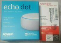 Amazon Echo Dot 3rd Generation (Sandstone) with Sengled Smart Light Bulb!!