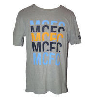 Manchester City Mens Football T Shirt Umbro Grey Cotton Supporters Tee  2012-13