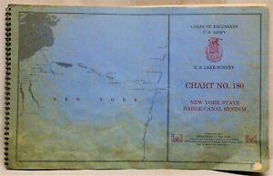 NEW YORK STATE BARGE CANAL SYSTEM (ERIE CANAL) CHART MAPS BOOKLET 1970 VINTAGE