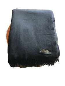 Creswick Cashmere Lambswool Throw Blanket With Fringe On Both Ends
