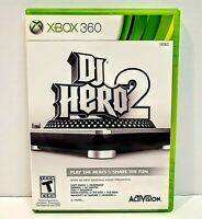 DJ Hero 2 Complete with Manual Xbox 360 Tested
