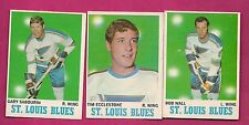 1970-71 OPC  BLUES WALL + ECCLESTONE + SABOURIN CARD (INV# A1905)