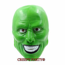 'The Mask'  Green Latex Mask Jim Carrey Costume Fancy Dress Halloween Adult Mask