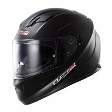 LARGE LS2 Stream Solid Matte Black Full Face Motorcycle Helmet w/Sun Shield