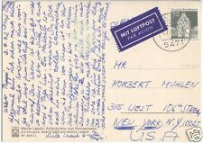Bedarfspostkarte, Luftpost in USA, BRD, Michel 497, EF, o Maria Laach, 5.7.72