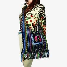 Vintage Hmong Thai Indian Ethnic hobo hippie messenger shoulder bag pom 083E