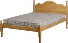 Sol 4ft Small Double Antique Pine Low Foot End Bed Frame.