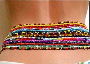 African green waist beads