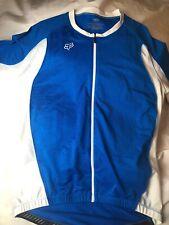 Fox Racing Mens Blue Size XL Cycling Jersey Shirt Air Cool Full Zip 3 Pockets