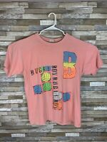 VTG 90s Single Stitch T Shirt XL Bugle Boy Volleyball Double Sided Made In USA