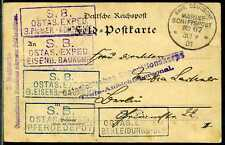 "DP China Karte MSP 67 "" Silvia "" und 7 SB-Stempel  Berlin  1901"