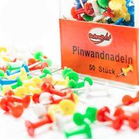 50 Pinwandnadeln bunt gemischt Pinnwand Pin / neu OVP