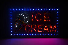 """22"""" x 13"""" Ice Cream Led Lighted Open Neon Sign Business Sign"""