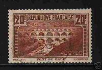 """FRANCE STAMP TIMBRE 1929-31 Y&T 262 """" PONT DU GARD 20F """" OBLITERE TB"""
