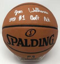 "ZION WILLIAMSON Autographed ""2019 #1 Draft Pick"" Authentic Basketball FANATICS"