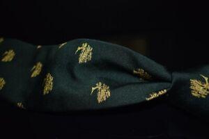 Vintage Robert Talbott Silk Blend Emerald Gold Joshua Tree Emblematic Tie Cali