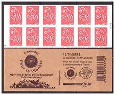 CARNET N° 074 MARIANNE DE LAMOUCHE N° 3744b-C5 REPÈRE ROUGE NEUF**NON PLIÉ LUXE