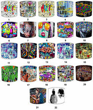 Graffiti Lampshades Ideal To Match Graffiti Wallpaper & Graffiti Cushion Covers