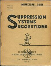 Cold War Signal Corps Book INSPECTOR'S GUIDE SUPPRESSION SYSTEM SUGGESTIONS 1954