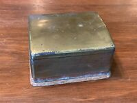 Vintage Brass and Wood Trinket Box, signed NAPIER
