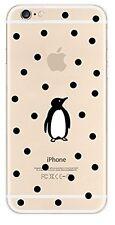 Coque gel souple incassable motif fantaisie pour iPhone 6 PLUS (Pingouin)