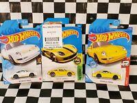 3 2016 Hot Wheels HW Exotics series: Porsche Carrera GT yellow 96 white gold LOT