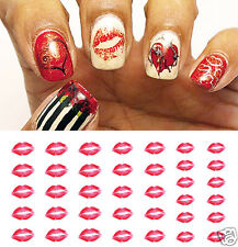 Lips Nail Art Waterslide Decals- Great for Valentines Day! Salon Quality!