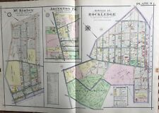1916 Montgomery County, North Pa, Abington, Rockledge, Mckinley, Copy Atlas Map