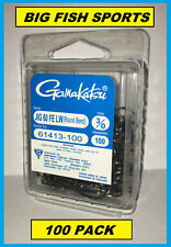 GAMAKATSU 614 Jig Hook 60° FE Light Wire Round Bend 100-Pack #61415-100 Size 5/0