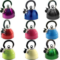 2.5L staiinless steel lightweight whistling kettle camping fast boil fishing new