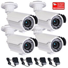"4x Security Cameras 700TVL with 1/3"" SONY Effio CCD Outdoor Day Night Vision CMN"