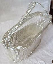 PORTE BOUTEILLE METAL ARGENTE TRESSE ANSE/WINE RACK PLATED SILVER