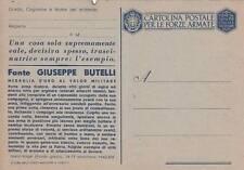 A7666) WW2 FRANCHIGIA NON EMESSA, M. O. GIUSEPPE BUTELLI DA SAMBUCA PISTOIESE.