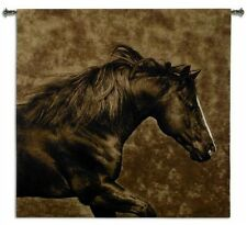 GALLOPING HORSE WESTERN COWBOY ART TAPESTRY WALL HANGING 52x51