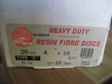 4 X 5/8 36 GRIT FIBER BACK DISC (AA366-25)